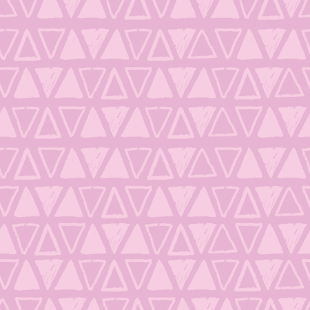 Pink tribal triangles repeat pattern design. Great for folk modern wallpaper, backgrounds, invitations, packaging design projects. Surface pattern design.