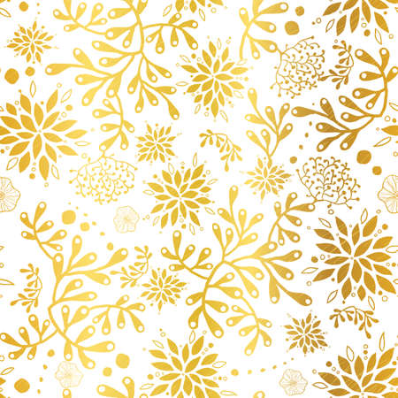 Golden nautical seaweed seamless pattern. Great for marine inspired fabric, invitations, wallpaper, giftwrap projects.