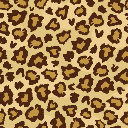 Leopard skin fur print seamless pattern. Great for classic animal product design, fabric, wallpaper, backgrounds, invitations, packaging design projects. Surface pattern design. Illustration