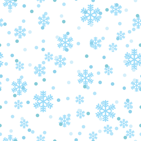Christmas snowflakes network seamless pattern. Great for winter holidays wallpaper, backgrounds, invitations, packaging design projects. Surface pattern design. Illustration