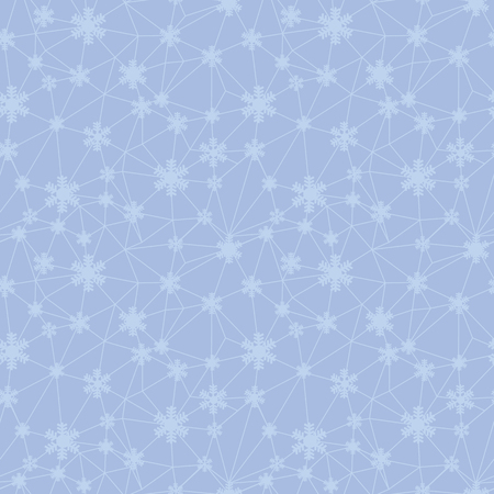 Christmas snowflakes net texture seamless pattern. Great for winter holidays wallpaper, backgrounds, invitations, packaging design projects. Surface pattern design.