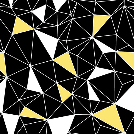 Black yellow network web texture seamless pattern. Great for abstract modern wallpaper, backgrounds, invitations, packaging design projects. Surface pattern design.