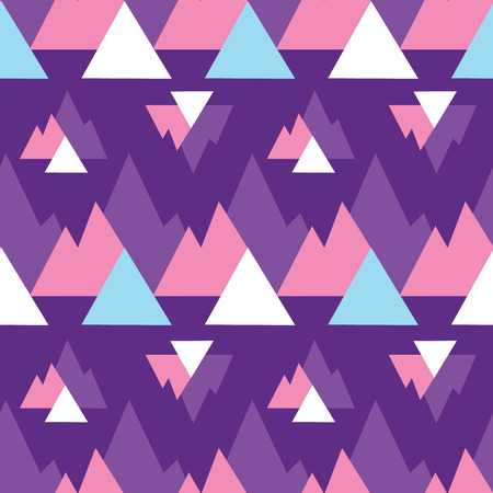 Abstract purple mountains triangles print pattern. Great for modern product design, fabric, wallpaper, backgrounds, invitations, packaging design projects. Surface pattern design.