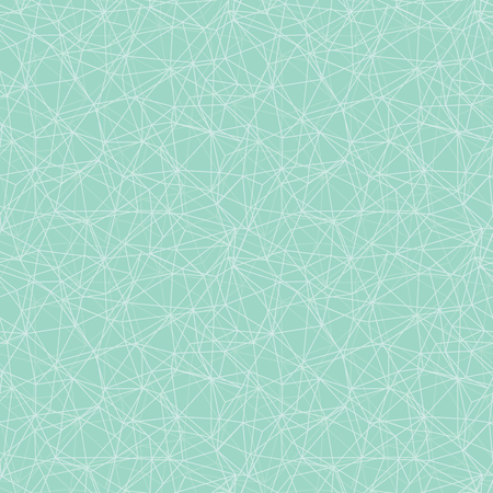 Mint green network web texture seamless pattern. Great for space inspired wallpaper, backgrounds, invitations, packaging design projects. Surface pattern design.