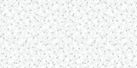 Grey dots network texture seamless pattern. Great for technology inspired wallpaper, backgrounds, invitations, packaging design projects. Surface pattern design.