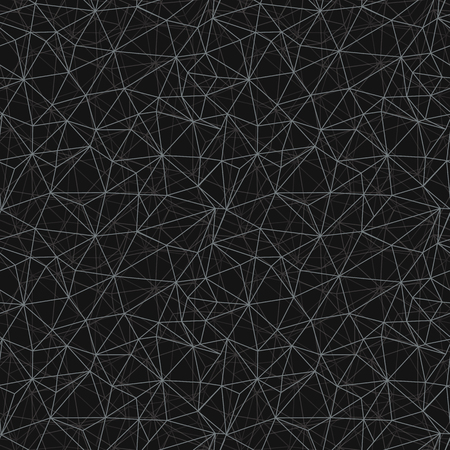 Black grey network web texture seamless pattern. Great for space inspired wallpaper, backgrounds, invitations, packaging design projects. Surface pattern design. Stock Photo - 114799564