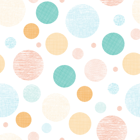 Fabric textured circles seamless pattern print. Great for any design project and unisex products for kids, home decor, packaging, fabric, and invitations.