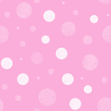 Pink textile textured circles seamless pattern