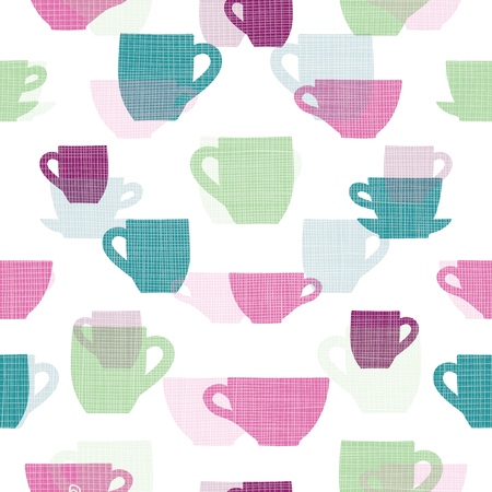 Colorful cups seamless pattern print background design