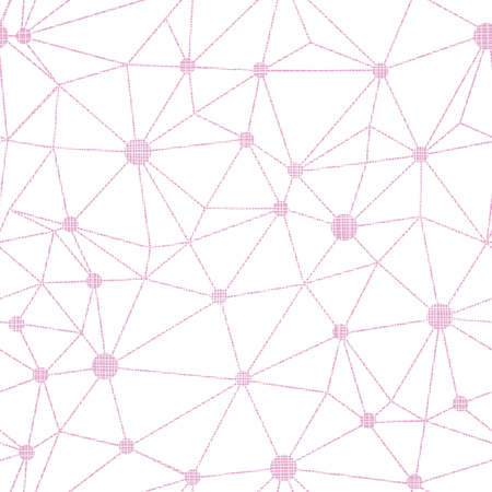Pink dots wire textile textured seamless pattern