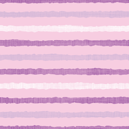 Cute pink textile textured stripe seamless pattern