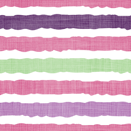 Colorful textile textured stripes seamless pattern