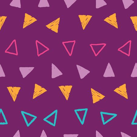 Stripes of grunge triangles on repeat pattern
