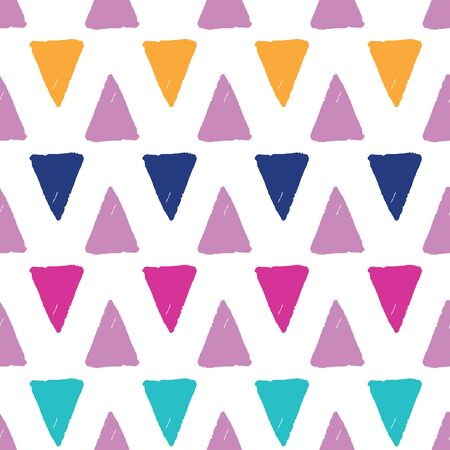 Colorful grunge triangles repeat pattern Ilustracja