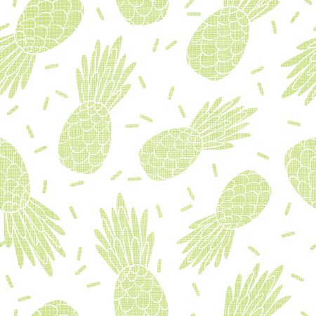 Fun green textured pineapples repeat pattern print. Great for summer design for kids, parties, fabric, packaging projects.