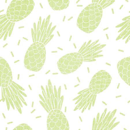 Fun green textured pineapples repeat pattern print