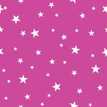 Pink tiny stars simple geometric repeat pattern Ilustrace