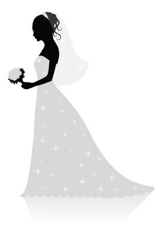 Bride. Vector