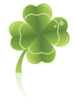 Four leafs clover symbol. Stock Vector - 6066488