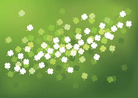 Green St. Patricks Day background. Vector