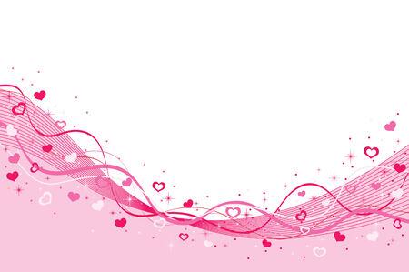 Valentijnsdag achtergrond met hartjes.