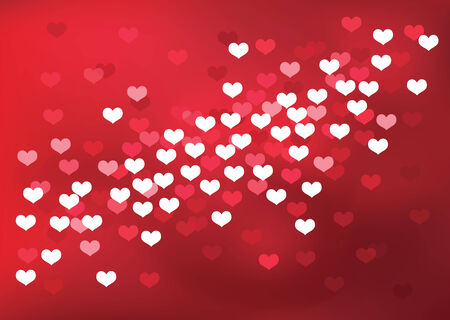 Red Valentines day background. Vector