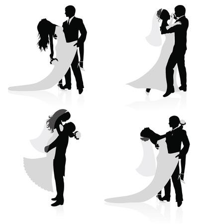 действительно свадебный танец в векторных кривых модели термобелья