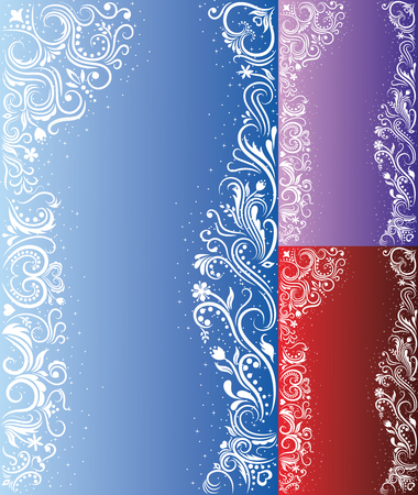 Pattern in a shape of a woman on the  purple backgrounds with sparkles. Vector