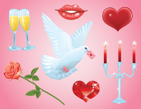 Beautiful collections for Valentines day. Vector