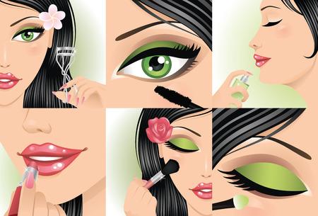 nails art: Set of female body part. Illustration