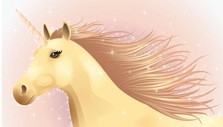Portrait of a running magic unicorn. Stock Vector - 7077083
