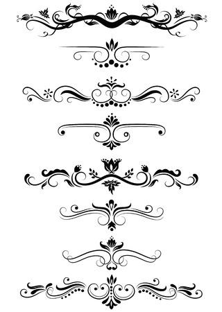 Satz von verzierten Designs. Vektorgrafik