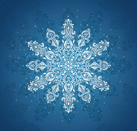 Pattern in a shape of a snowflake. Stock Vector - 8019887
