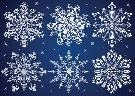Pattern in a shape of a snowflake. Stock Vector - 8130923