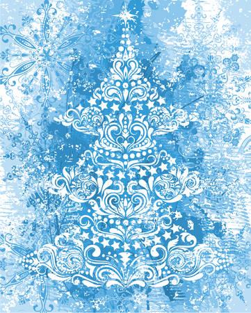Grunge christmas background.  Stock Vector - 8201457