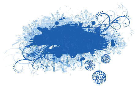 Grunge christmas banner. Stock Vector - 8203960