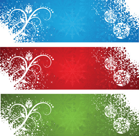 Set of a christmas banners. Stock Vector - 8301788
