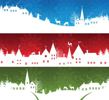 Satz von ein Weihnachten-Banner Standard-Bild - 8301793
