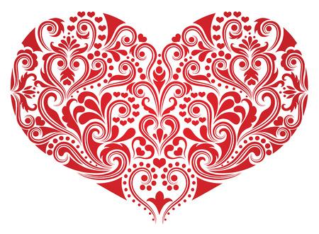 Pattern in a shape of a heart. Illustration