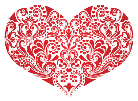 Muster in einer Form eines Herzens. Standard-Bild - 8666635
