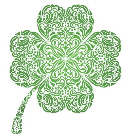 celtico: Modello in una forma in un trifoglio.