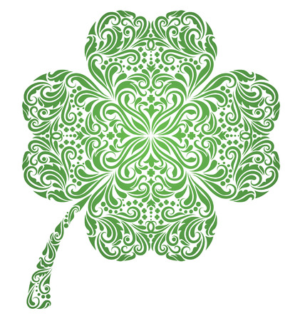 lucky day: Pattern in a shape of a clover. Illustration
