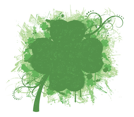 Set of a pattern in a shape of a clover. Vector