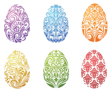 Pattern in a shape of an egg. Vector
