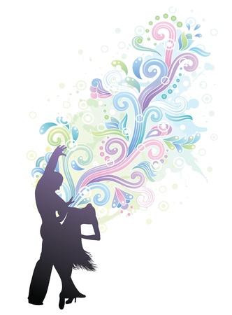 Paar dancing Latino. Standard-Bild - 9835425
