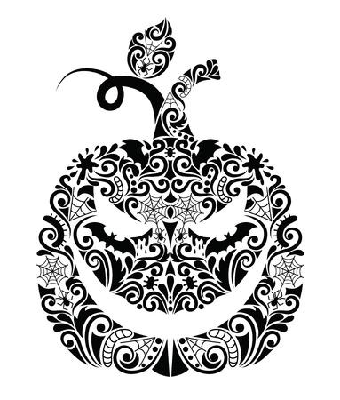 Pattern in a shape of a pumpkin. Vector