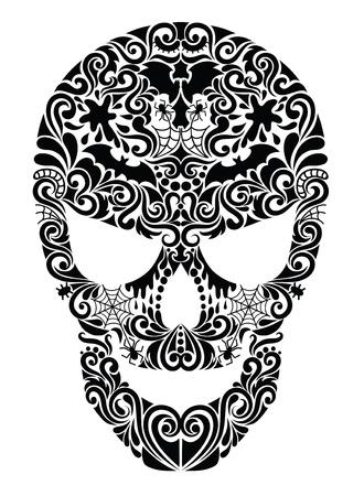 Pattern in a shape of a skull.