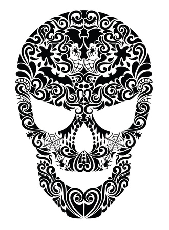 Pattern in a shape of a skull. Vector