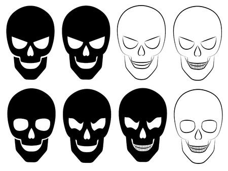 Set of a skulls. Vector