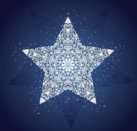 Pattern in a shape of a star. Vector